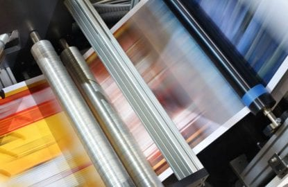 Detail of offset printing machine - Prophotonix